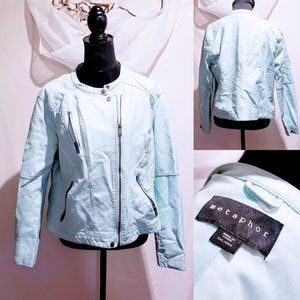 Metaphor Mint Vegan leather Moto Jacket XXL🦄💋
